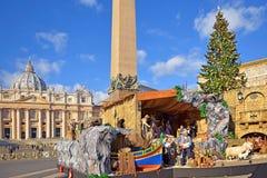 Boże Narodzenia w watykanie Obrazy Royalty Free