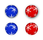 boże narodzenie balowi ornamenty Zdjęcie Stock