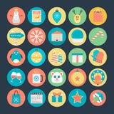 Boże Narodzenie Barwione Wektorowe ikony 2 Zdjęcie Royalty Free