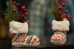 Boże Narodzenie buty Zdjęcia Royalty Free