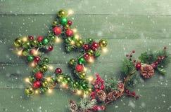 boże narodzenie dekoracyjna gwiazda Obrazy Stock