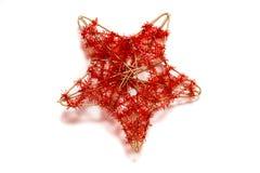 boże narodzenie dekoracyjna gwiazda Zdjęcie Royalty Free