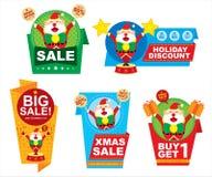 Boże Narodzenie etykietki ceny projekt Ilustracji