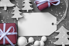 Boże Narodzenie etykietki kopii przestrzeni drzewo I prezent Zdjęcie Royalty Free