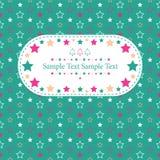 Boże Narodzenie gwiazd kartka z pozdrowieniami Zdjęcie Stock