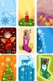 boże narodzenie ikony Zdjęcia Royalty Free