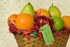 boże narodzenie koszykowa owoc Zdjęcia Royalty Free