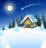 Boże Narodzenie krajobraz Obraz Royalty Free