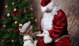 boże narodzenie kwiat Santa obraz royalty free