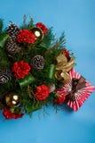 Boże Narodzenie kwiatu dekoracja Fotografia Stock