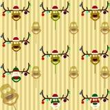 Boże Narodzenie maska rogacz ilustracja wektor