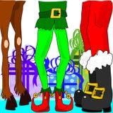 Boże Narodzenie nogi royalty ilustracja