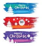 Boże Narodzenie oferty sztandaru projekta szablon Obrazy Royalty Free