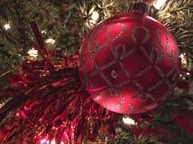 boże narodzenie ornamentu czerwony Obrazy Royalty Free