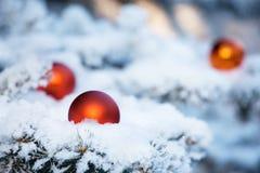 Boże Narodzenie ornamenty Balowi Obrazy Royalty Free