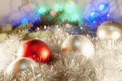 Boże Narodzenie ornamenty na choince Obrazy Royalty Free