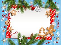 Boże Narodzenie pasiasty pusty szablon obraz royalty free