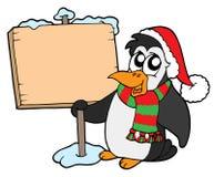 boże narodzenie pingwina znak Fotografia Royalty Free