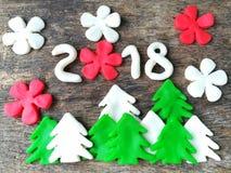 Boże Narodzenie 2018 plastelina Zdjęcia Stock