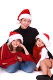 boże narodzenie portret rodziny Zdjęcia Stock