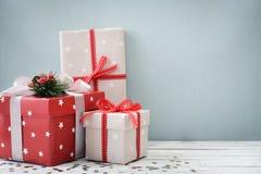 boże narodzenie prezentów white izolacji Fotografia Stock