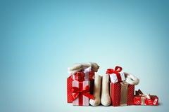 boże narodzenie prezentów white izolacji Obraz Stock