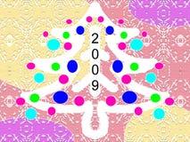 boże narodzenie rok nowy pocztówkowy Royalty Ilustracja