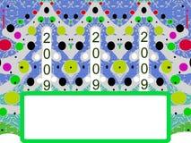 boże narodzenie rok nowy pocztówkowy Ilustracji