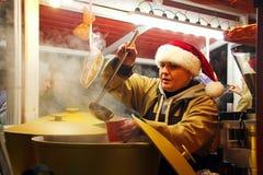 Boże Narodzenie rynek w Kyiv obrazy royalty free