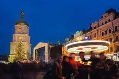 Boże Narodzenie rynek w Kyiv, Ukraina Obraz Royalty Free