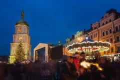 Boże Narodzenie rynek w Kyiv, Ukraina Zdjęcie Stock