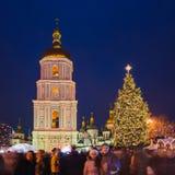 Boże Narodzenie rynek w Kyiv, Ukraina Obraz Stock