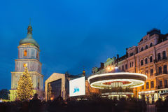 Boże Narodzenie rynek w Kyiv, Ukraina Zdjęcia Royalty Free