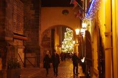 Boże Narodzenie rynki przy Starym rynkiem w Praga, republika czech Fotografia Stock
