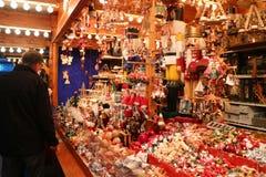Boże Narodzenie rynku stojak Obrazy Royalty Free