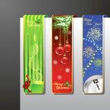Boże Narodzenie sztandary set Fotografia Stock