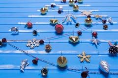 Boże Narodzenie tekstury i zabawki Obrazy Royalty Free