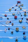 Boże Narodzenie tekstury i zabawki Zdjęcia Stock
