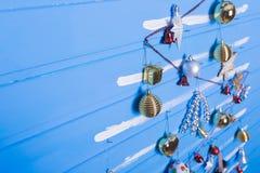 Boże Narodzenie tekstury i zabawki Zdjęcie Royalty Free