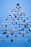 Boże Narodzenie tekstury i zabawki Fotografia Royalty Free