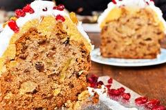 Boże Narodzenie torta plasterki Obrazy Stock