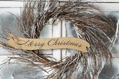 Boże Narodzenie wianek Fotografia Royalty Free