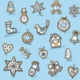 Boże Narodzenie wzór miodowniki Zdjęcie Stock