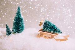 Boże Narodzenie zabawki karta Zdjęcie Royalty Free