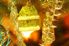 Boże Narodzenie zabawki na choince Zdjęcie Royalty Free