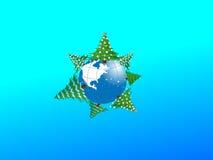 Boże Narodzenie ziemia. Obrazy Royalty Free
