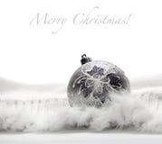 bożego narodzenia balowy srebro Fotografia Royalty Free