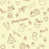 bożego narodzenia doodle ilustracja wektor