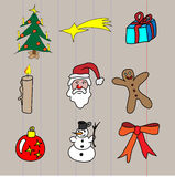 Bożego Narodzenia doodle Obraz Royalty Free