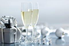 bożego narodzenia karciany srebro Zdjęcie Royalty Free